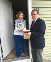 Senator Ross delivered meals in Norfolk
