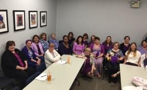 Purple staff meeting